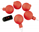 LED kerstballen rood