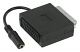 21p scart adapter 0.2m zwart