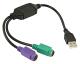USB 2.0 naar PS/2 Adapter voor toetsenbord