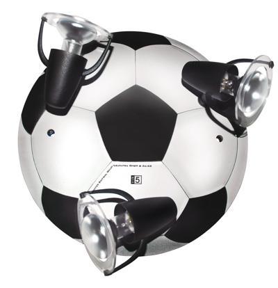 Lamp in de vorm van een voetbal (3x E14) - Pop Electronics