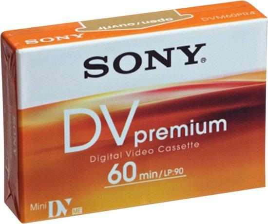 miniDV tape Sony DV Premium 60 (per stuk)