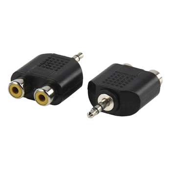 Adapter plug 3.5mm stereo stekker 2x RCA kontra stekker