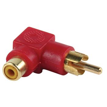 Adapter plug RCA stekker RCA kontra stekker met vergulde kontakten in haakse uitvoering