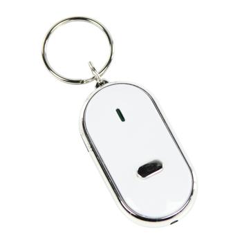 Sleutelvinder met LEDverlichting die reageert op fluiten