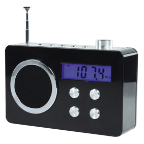 Basicxl Bxl-tr250 bl Draagbare Fm Radio Zwart