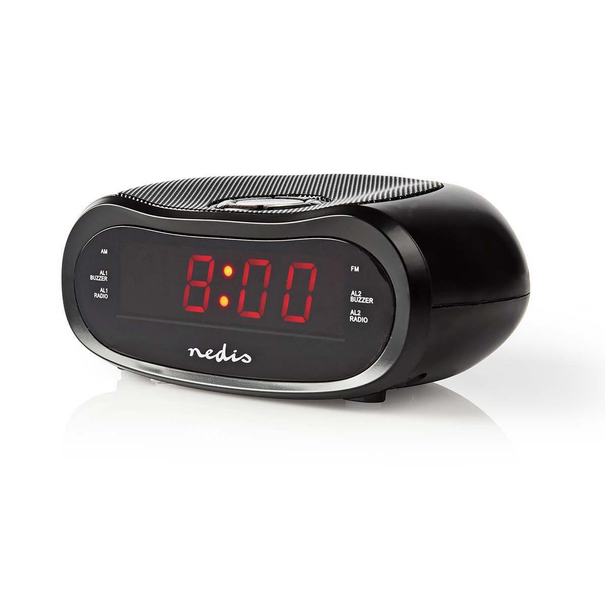 Digitale Wekkerradio met rood display