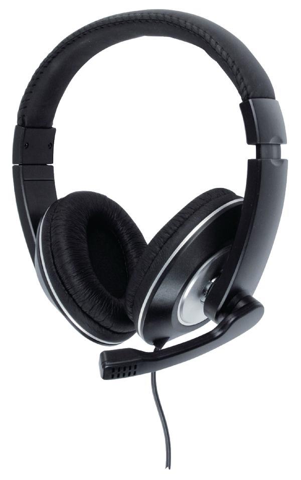 Gesloten headset zwart