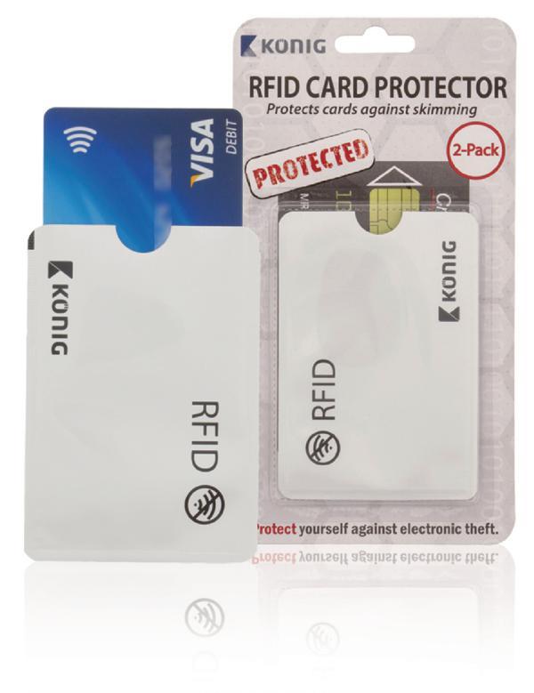 Bankpasbeschermer, veilig opbergen van bankpassen met RFID contactloos betalen (2 stuks)