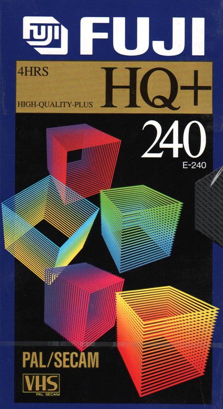 Fuji VHS videoband HQ+ 240 (4 uur)