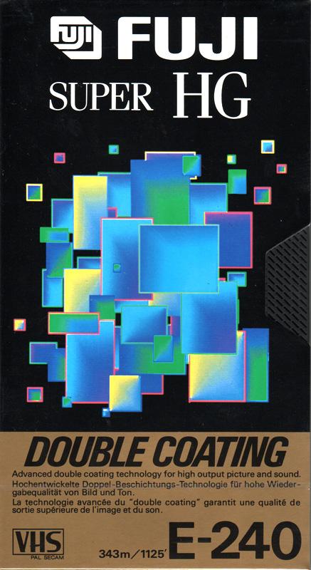 Fuji VHS videoband Super HG 240 (4 uur) SHG