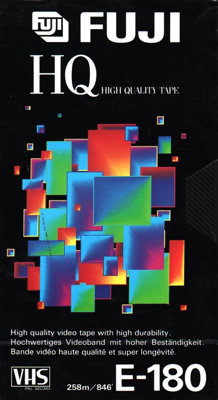 VHS videoband Fuji HQ 3-uurs E180 (1 band)