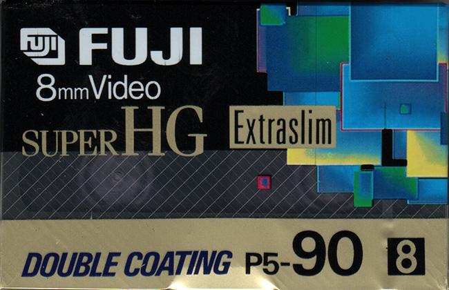 Fuji Video8 cassette P5-90 (Video 8, geschikt voor Hi8)