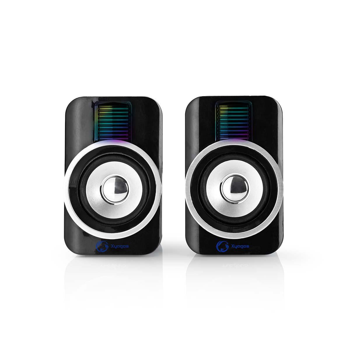 Luidsprekers 2.0 RGB USB 10W