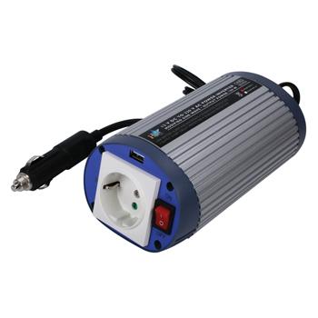 Omvormer 12V - 230V 150 Watt met USB