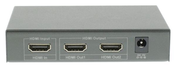 2 poorts HDMI splitter 1x HDMI in, 2x HDMI uit geschikt voor 4K