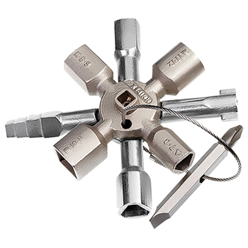 Twin-key voor standaard schakelkasten en afsluitsystemen