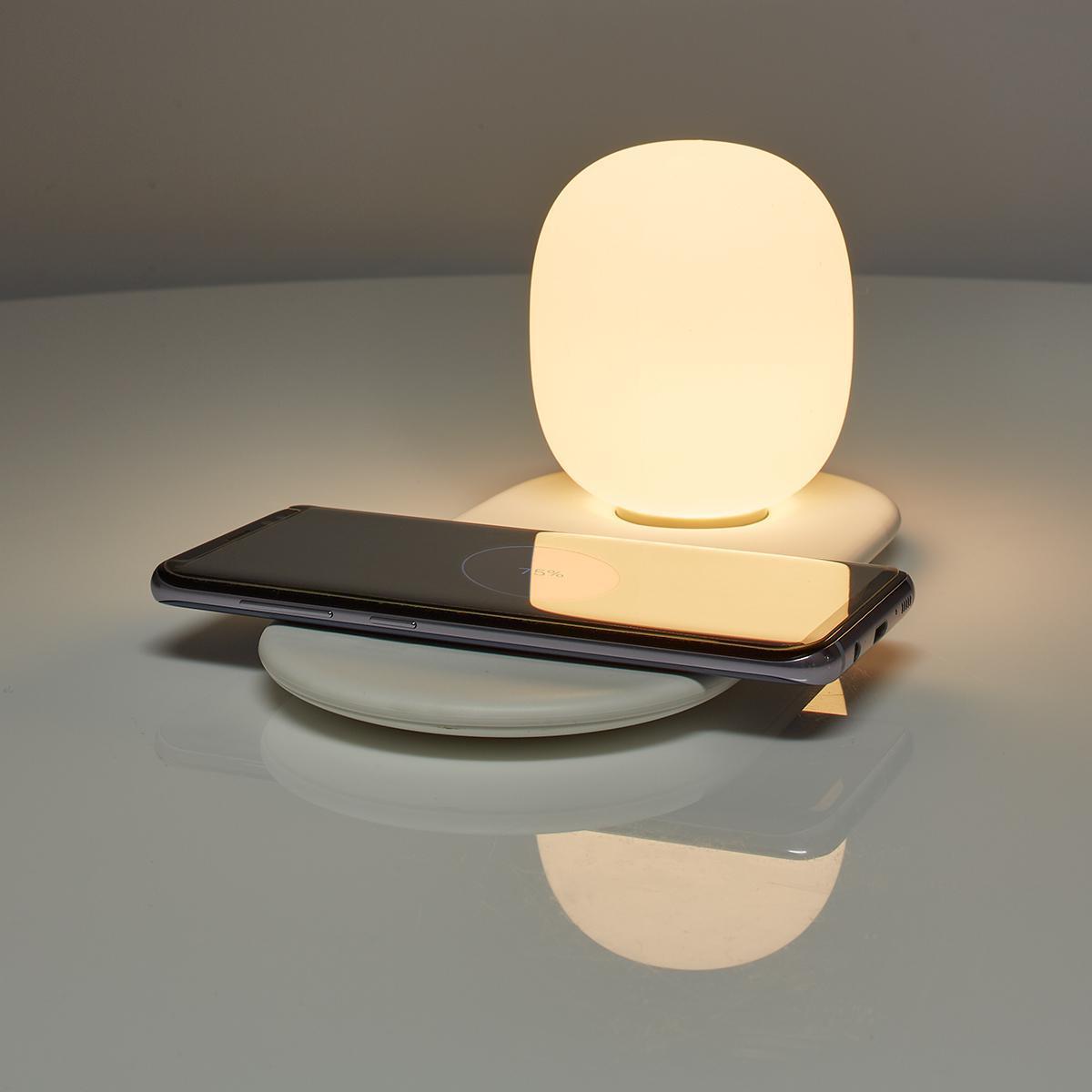 Nachtlamp met touch bediening en oplader voor smartphone 10W