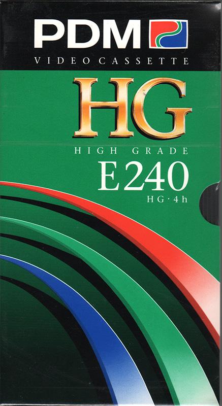 PDM VHS videoband E240 High Grade