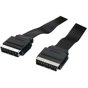 Scart flatcable 21 pins 1,5m