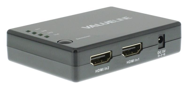 4-poorts HDMI-schakelaar