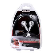 Uittrekbare oortelefoon wit