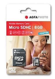 8GB MicroSDHC met adapter