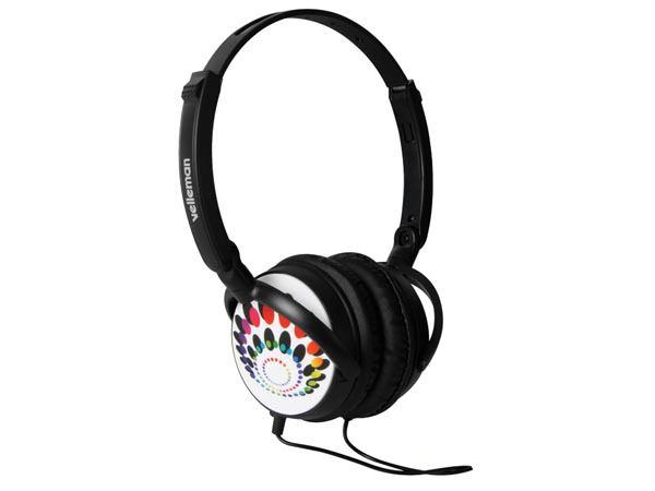 Fashion koptelefoon met lederen oorkussens
