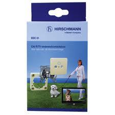 Hirschmann radio/tv eindwandcontactdoos voor opbouw en inbouw OP=OP SHOP