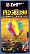 VHS videoband PHG180 3-uurs E180 (1 band) Extra High Grade