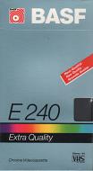 BASF VHS videoband E240 Extra Quality (4 uur)