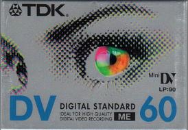 miniDV tape DVM60 (per stuk)