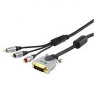 Extra hoge kwaliteit DVI naar Component kabel 20m