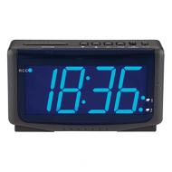 Zendergestuurde LED-wekker met blauw display