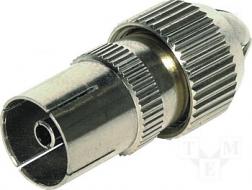 Coax socket, aluminium, schroefversie