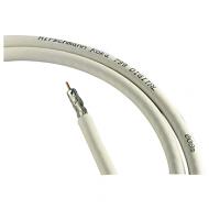 Hirschmann coax kabel 90dB afgeschermd op rol 100m wit