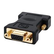 DVI naar VGA verloopadapter verguld