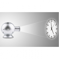 LED projectieklok analoog