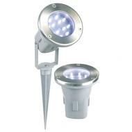 Grondspots LED, 3 stuks met pinnen voor in de grond en richtbare kop