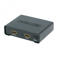 HDMI switch met versterker 2-poorts