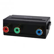 Scart plug 3x rca socket component adapter