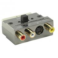 21p scart plug in metalen vergulde uitvoering