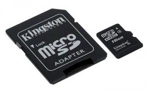 16GB MicroSDHC met adapter