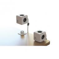 PowerCube met 4 contactpunten, 1.5m kabel en USB uitgang