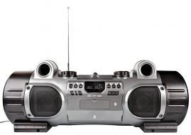 Grote ghettoblaster met subwoofers, cd speler, USB, SD, bluetooth en NFC voor MP3-weergave