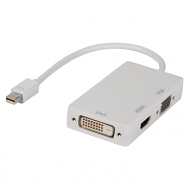 Mini displayport multi adapter DVI VGA HDMI 0.2m wit