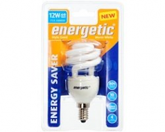 Spaarlamp Energetic 12W 725lm warm wit OP=OP