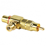 Vergulde tulp plug met 2 sockets