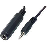 3.5mm stereo jack plug - 6.35mm stereo jack socket