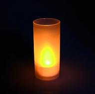 LED theelicht/kaars inclusief glas