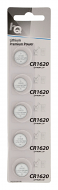 CR1620 knoopcel batterij, 5 in blister